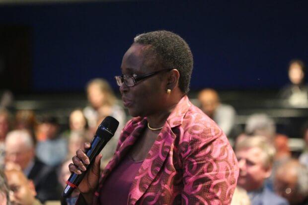 Amina Dikedi speaking