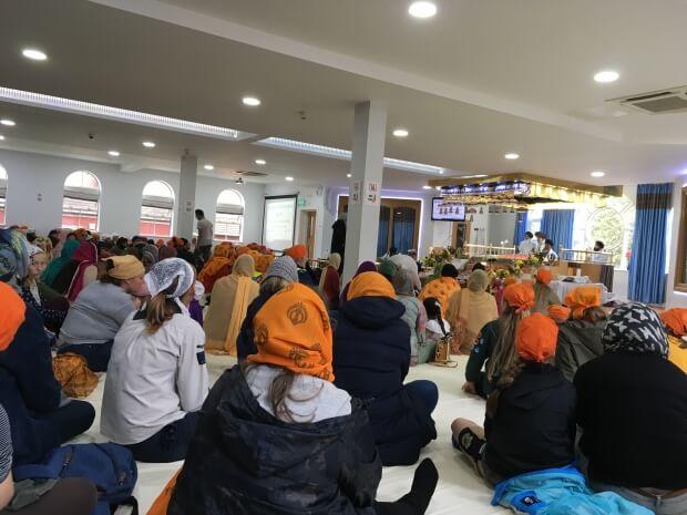 In the Sikh Gurdwara (photo: Barbara Down)