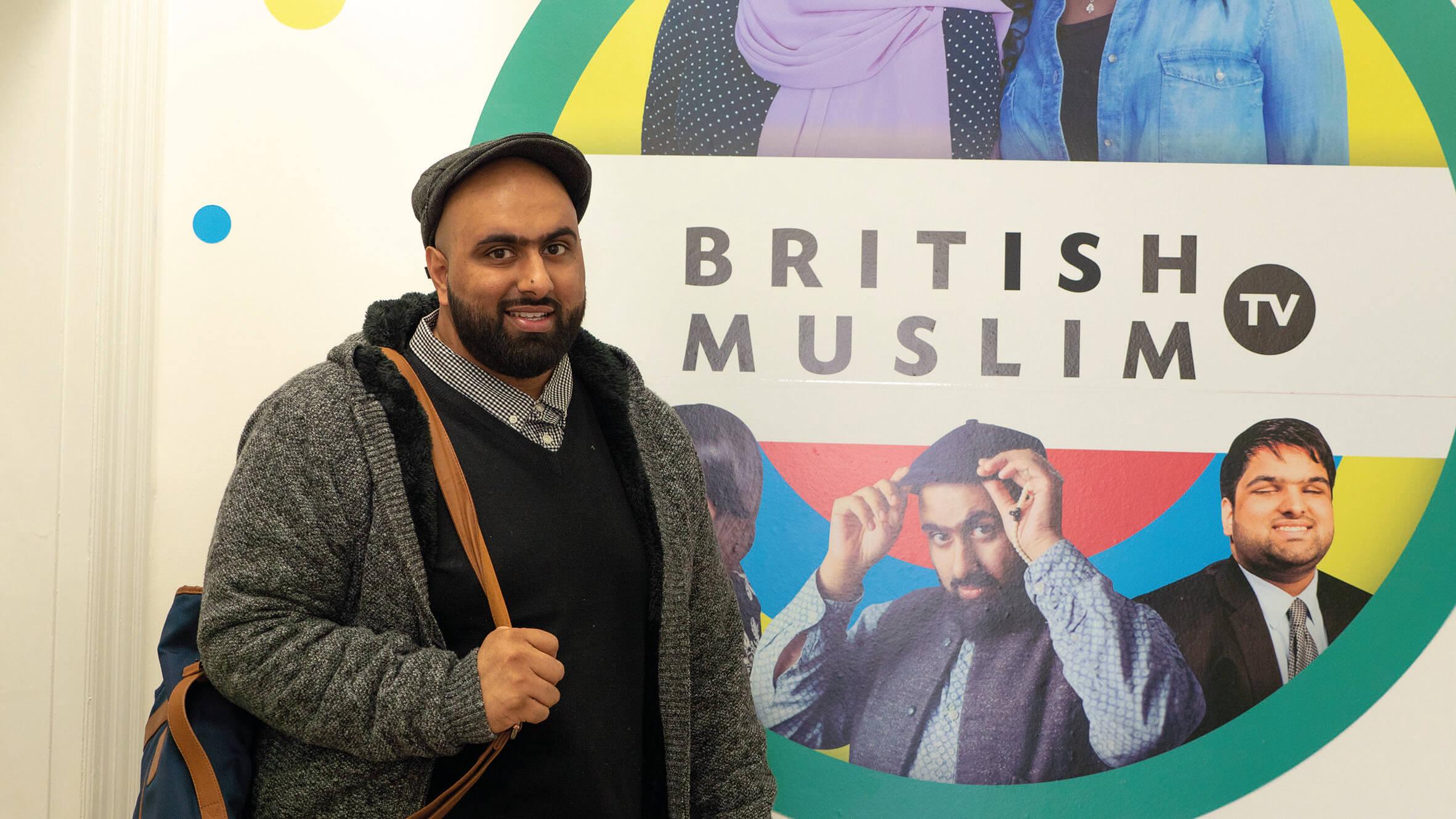 Bilal at British Muslim TV. Picture courtesy of Yee Liu Williams