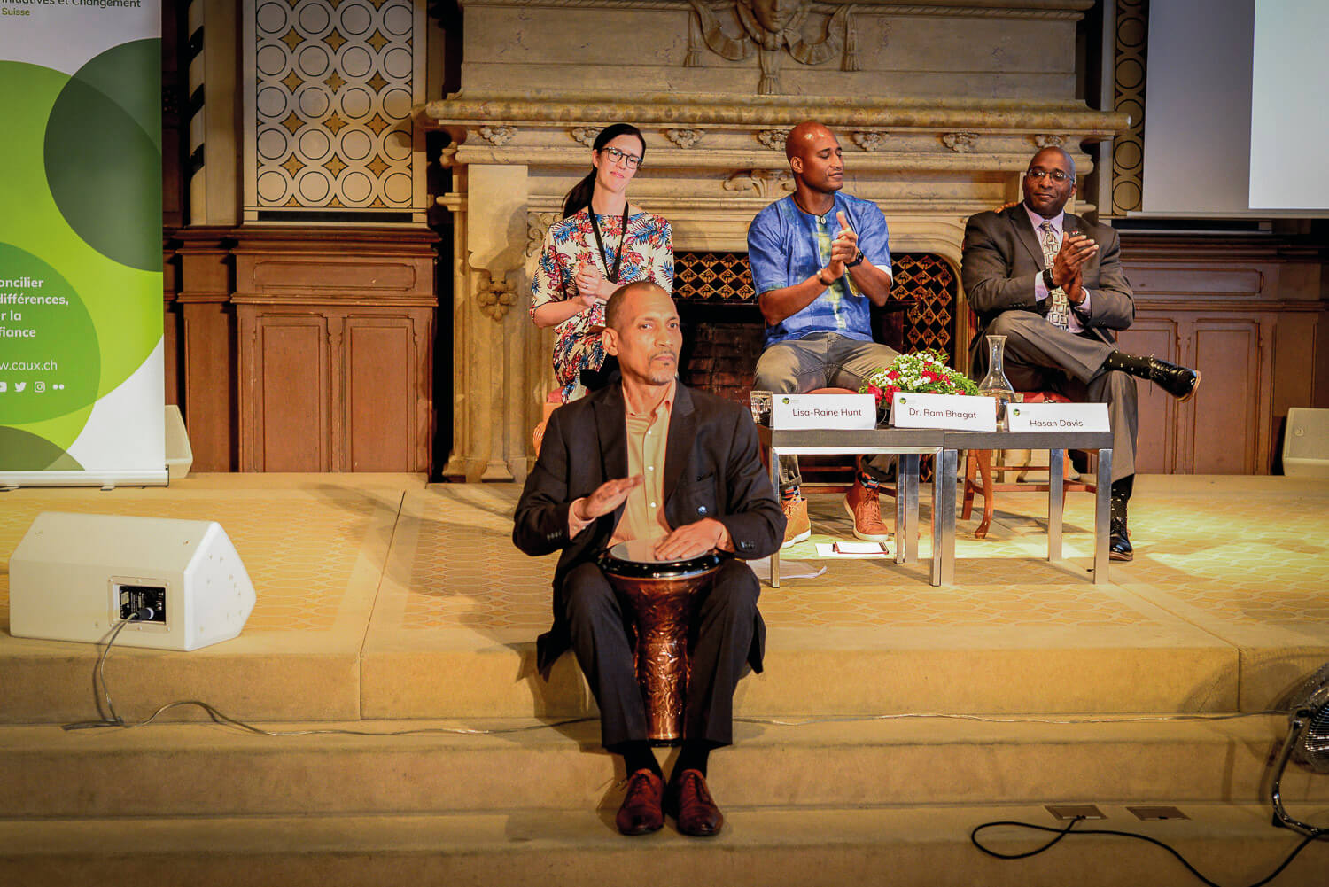 Ram at the Toward Inclusive Peace conference at the Caux Forum. Photo courtesy of Initiatives of Change Switzerland