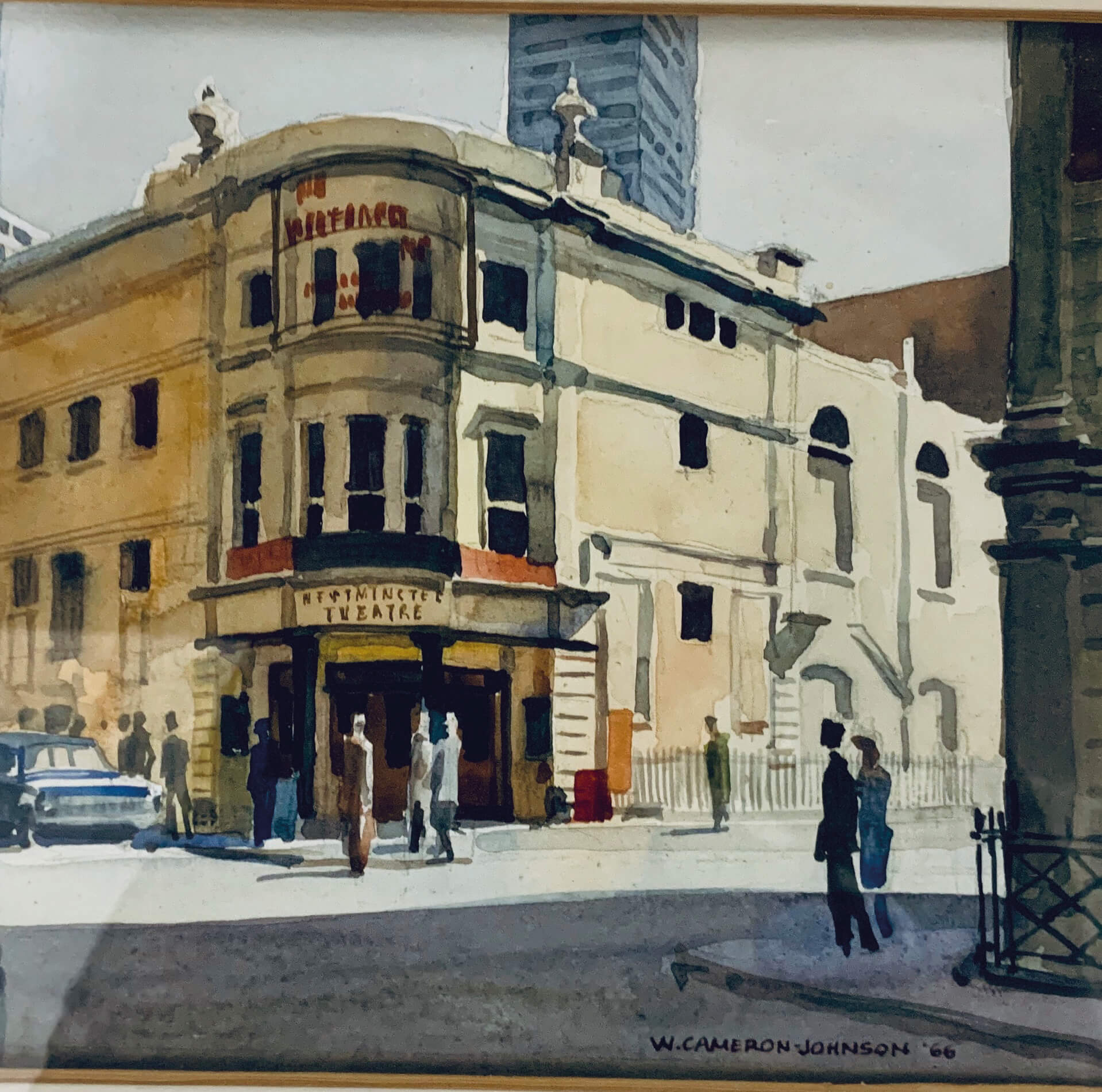 A picture of the Westminster Theatre by Bill Cameron-Johnson