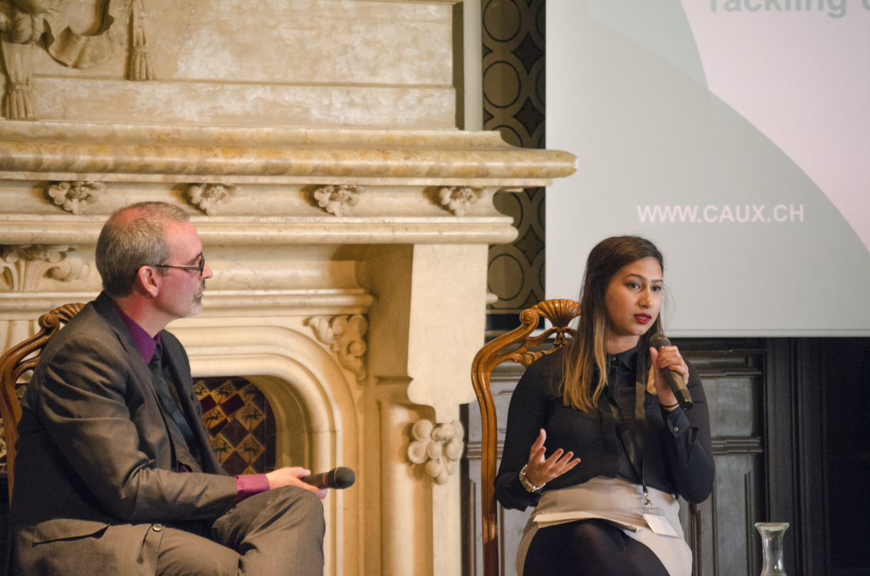Fatima Zaman speaking at Towards an Inclusive Peace, part of the Caux Forum