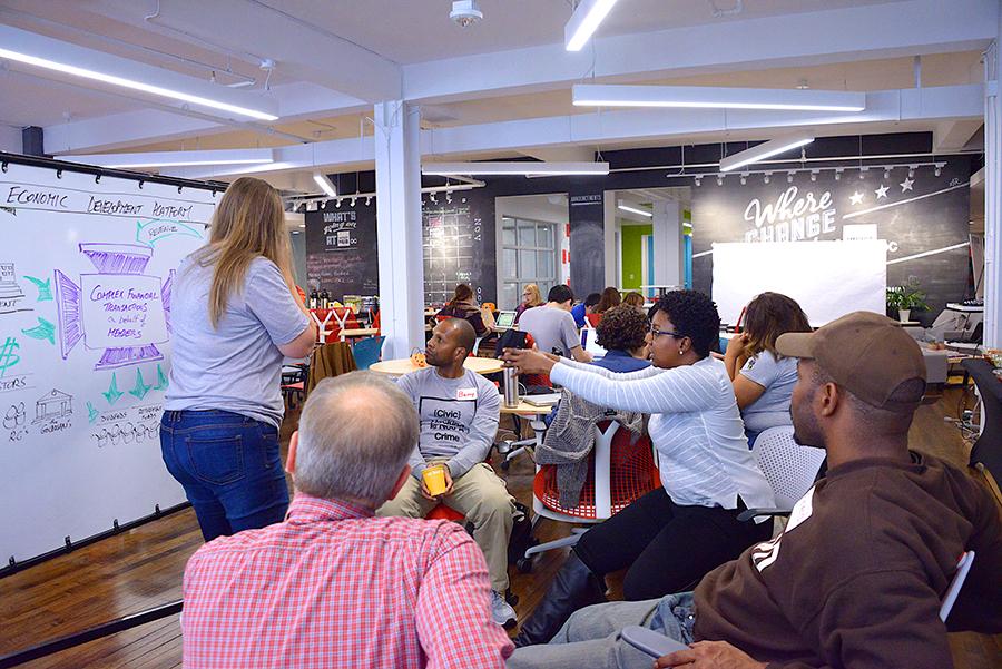 Participants at the Rebuilding Re-entry Hackathon