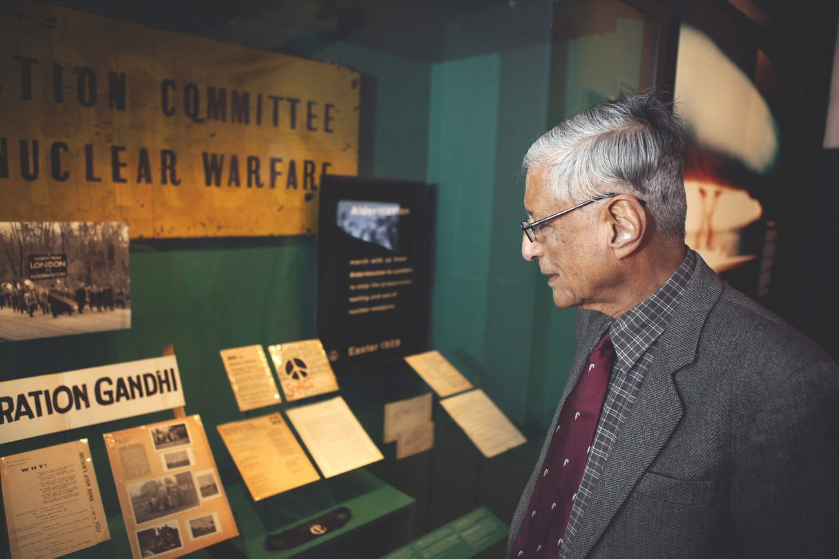 Rajmohan visits the People Power: Fighting for Peace exhibition at the Imperial War Museum in London. The exhibition runs until 28 August 2017