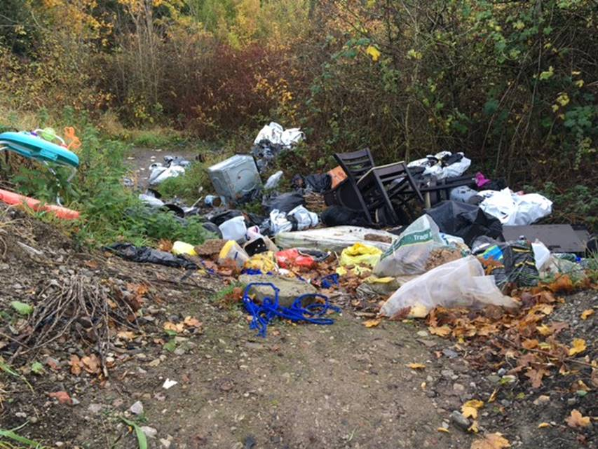 Fly tipping on Thorley Lane