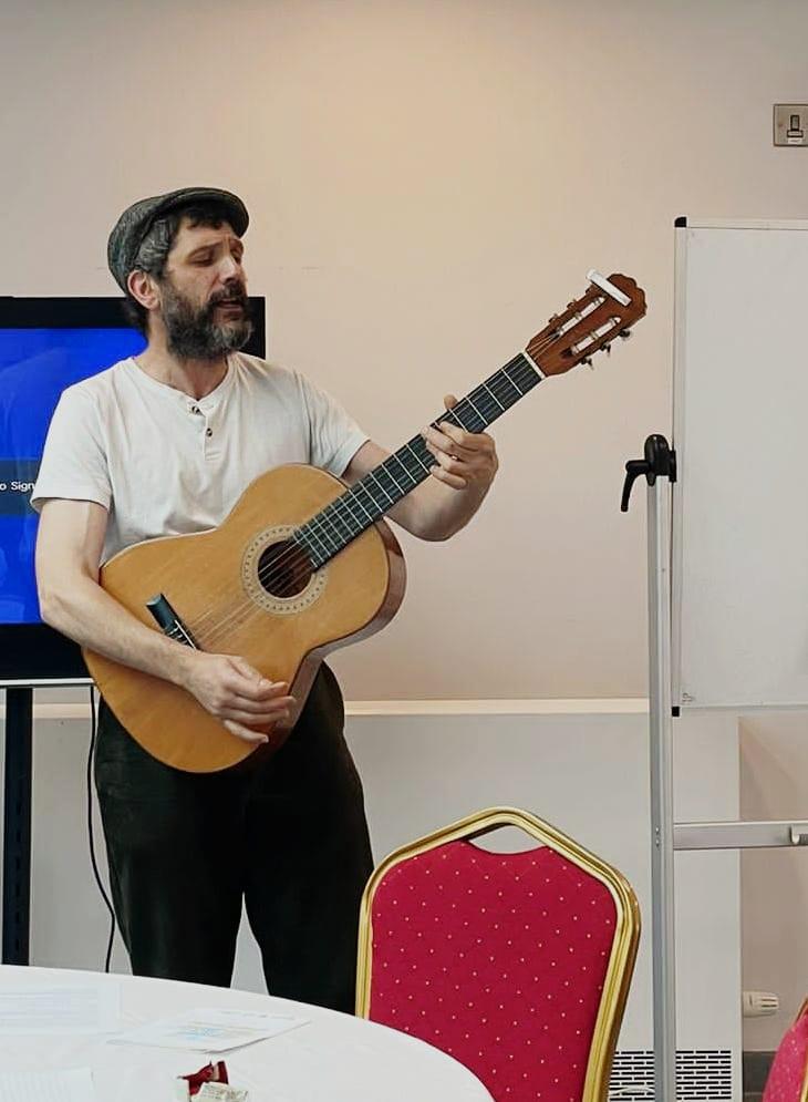 Jimmy Elderflower performing Let Love be thy guide